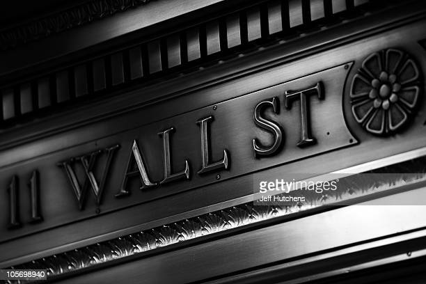 As the world's economy struggles to pull out of a recession the facade of the New York Stock Exchange is seen in the New York financial district on...