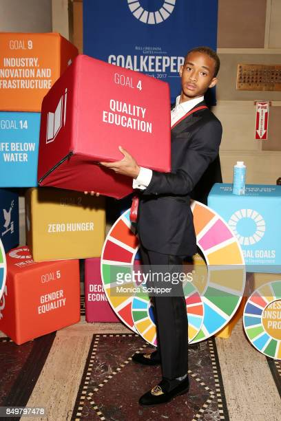 As world leaders gather in New York for the UN General Assembly actor Jaden Smith attends The Goalkeepers Global Goals Awards hosted by UN Deputy...