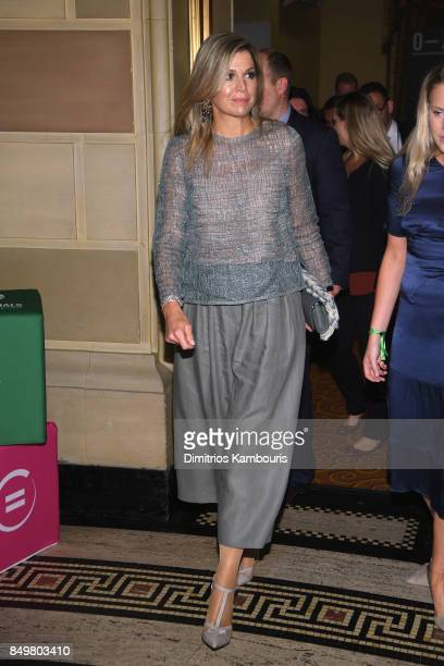 As world leaders gather in New York for the UN General Assembly Her Majesty Queen Maxima of the Netherlands attends The Goalkeepers Global Goals...