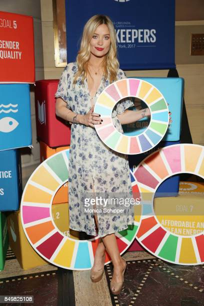 As world leaders gather in New York for the UN General Assembly model Laura Whitmore attends The Goalkeepers Global Goals Awards hosted by UN Deputy...