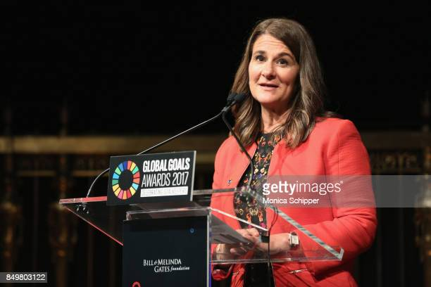 As world leaders gather in New York for the UN General Assembly cofounder of the Bill Melinda Gates Foundation Melinda Gates speaks on stage at The...