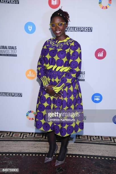 As world leaders gather in New York for the UN General Assembly Marieme Jamme attends The Goalkeepers Global Goals Awards hosted by UN Deputy...