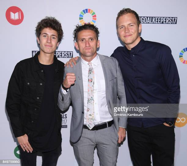 As world leaders gather in New York for the UN General Assembly Juanpa Zarita Casey Neistat and Jerome Jarre attend The Goalkeepers Global Goals...