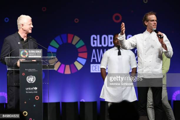 As world leaders gather in New York for the UN General Assembly director Richard Curtis and Coowner of Blue Hill speak on stage at The Goalkeepers...