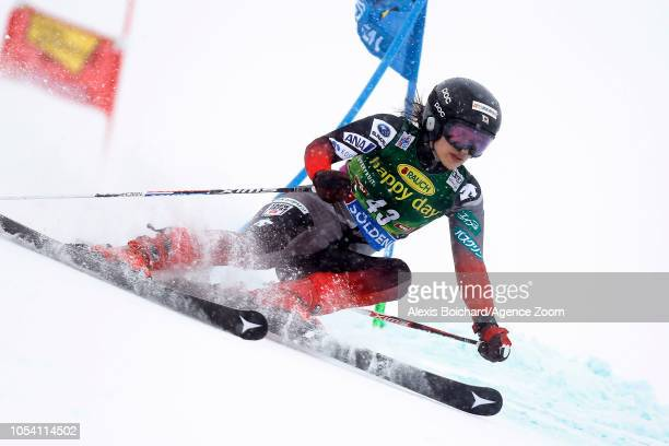 Asa Ando of Japan competes during the Audi FIS Alpine Ski World Cup Women's Giant Slalom on October 27 2018 in Soelden Austria