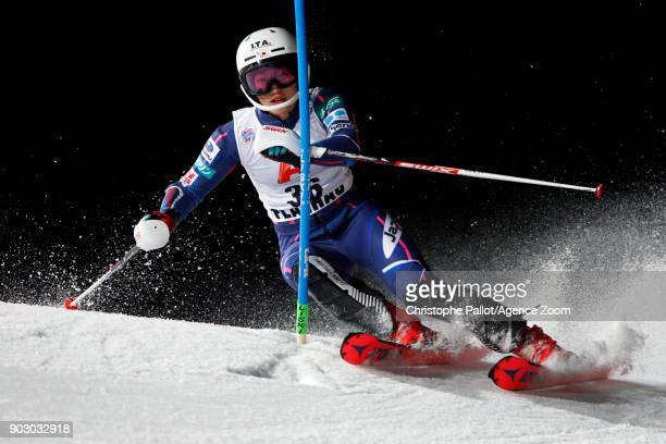 Asa Ando of Japan competes during the Audi FIS Alpine Ski World Cup Women's Slalom on January 9 2018 in Flachau Austria