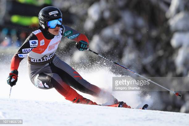 Asa Ando of Japan competes in the first run of the Giant Slalom at the Audi FIS Ski World Cup on November 24 2018 in Killington Vermont