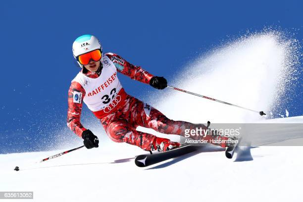 Asa Ando of Japan competes in the Women's Giant Slalom during the FIS Alpine World Ski Championships on February 16 2017 in St Moritz Switzerland
