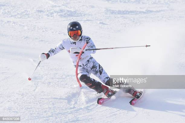 Asa Ando of Japan competes in women's slalom alpine skiing on the day eight of the 2017 Sapporo Asian Winter Games at Sapporo Teine on February 25...