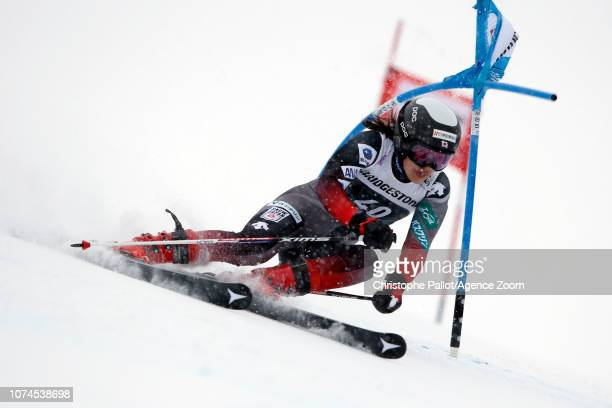 Asa Ando of Japan in action during the Audi FIS Alpine Ski World Cup Women's Giant Slalom on December 21 2018 in Courchevel France