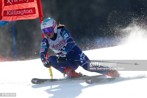 Asa Ando of Japan in action during the Audi FIS Alpine Ski World Cup Women's Giant Slalom on November 25 2017 in Killington Vermont