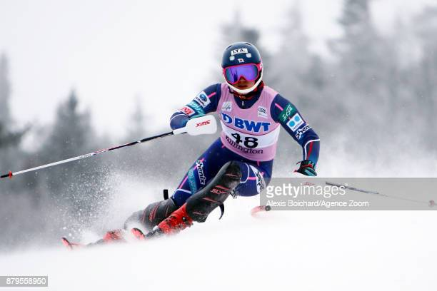 Asa Ando of Japan in action during the Audi FIS Alpine Ski World Cup Women's Slalom on November 26 2017 in Killington Vermont