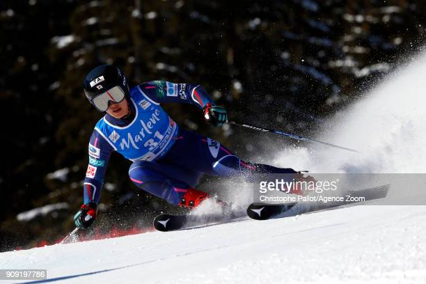 Asa Ando of Japan in action during the Audi FIS Alpine Ski World Cup Women's Giant Slalom on January 23 2018 in Kronplatz Italy