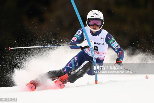 Asa Ando of Japan in action during the Audi FIS Alpine Ski World Cup Women's Slalom on January 28 2018 in Lenzerheide Switzerland
