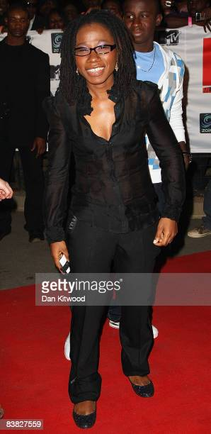 Asa arrives for the MTV Africa Music Awards 2008 at the Abuja Velodrome on November 22, 2008 in Abuja, Nigeria.
