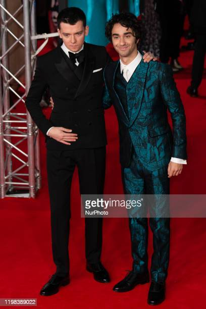 Asa Butterfield Alex Wolff attend the EE British Academy Film Awards 2020 at Royal Albert Hall on February 02 2020 in London England