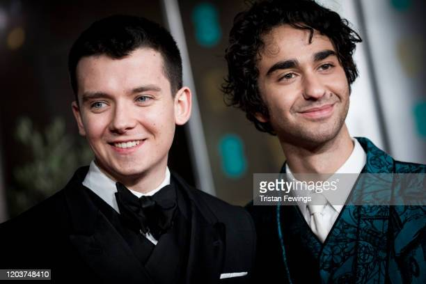 Asa Butterfield and Alex Wolff attend the EE British Academy Film Awards 2020 After Party at The Grosvenor House Hotel on February 02 2020 in London...