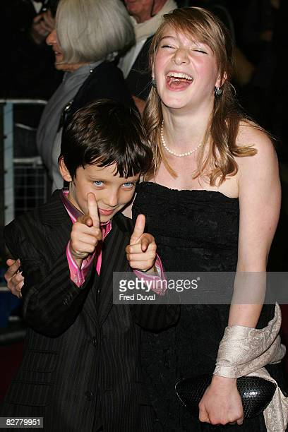 Asa Butterfield and Amber Beattie attend the Premiere of The Boy In The Striped Pyjamas at Curzon Mayfair on September 11 2008 in London England