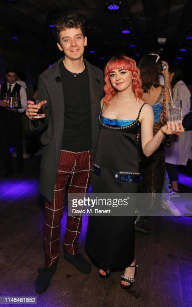 Asa Butterfield and Maisie Williams attend the SUPER Magazine x CONTACT agency launch party hosted by Maisie Williams at BASEMENT at The London...