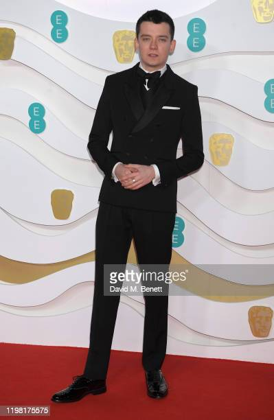 Asa Butterfield arrives at the EE British Academy Film Awards 2020 at Royal Albert Hall on February 2 2020 in London England