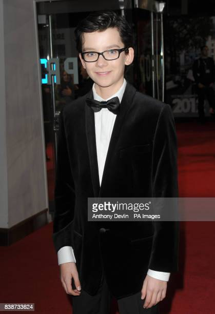 Asa Butterfield arrives for the Royal Film Performance 2011 of Hugo at the Odeon Cinema in Leicester Square London