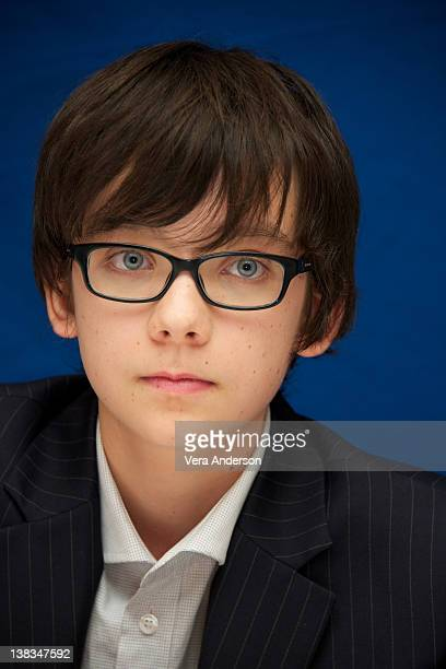 Asa Butterfield at the 'Hugo' Press Conference at the Ritz Carlton Hotel on November 20 2011 in New York City