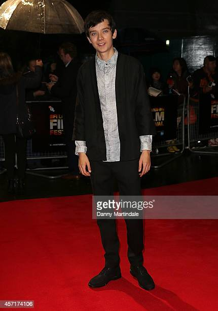 Asa Butterfield attends a screening of 'X Y' during the 58th BFI London Film Festival at Odeon West End on October 13 2014 in London England