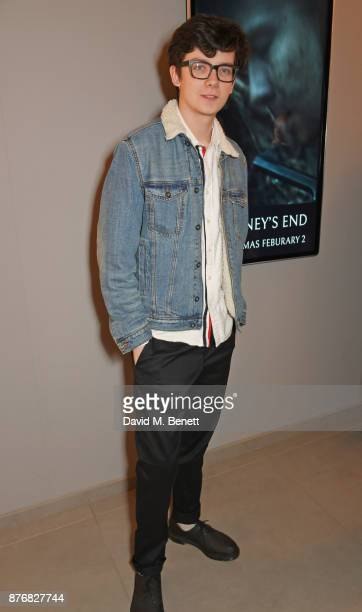 Asa Butterfield attends a special screening of 'Journey's End' at Vue Leicester Square on November 20 2017 in London England