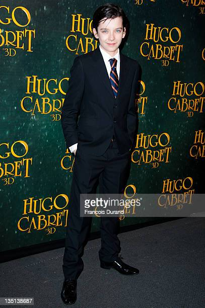 Asa Butterfield attends 'Hugo Cabret 3D' premiere at Cinema UGC Normandie on December 6 2011 in Paris France