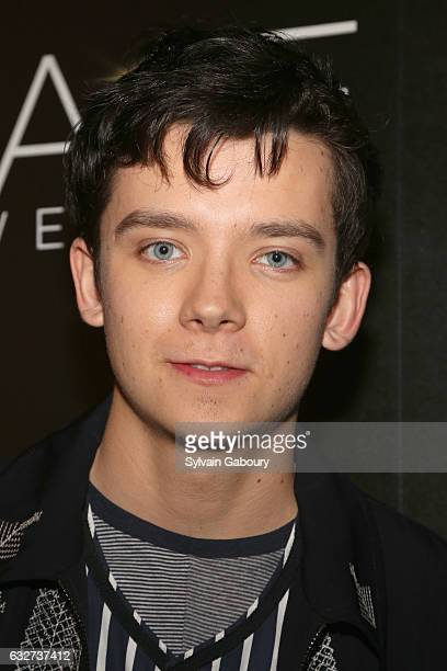 """Asa Butterfield attends STX Entertainment with The Cinema Society Host a Screening of """"The Space Between Us"""" on January 25, 2017 in New York City."""