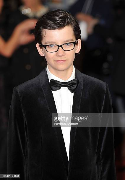 Asa Butterfield attends the 3D screening of Hugo as part of the Royal Film Performance at Odeon Leicester Square on November 28 2011 in London England