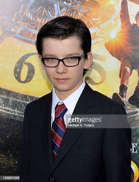 Asa Butterfield attends the Hugo premiere at the Ziegfeld Theatre on November 21 2011 in New York City