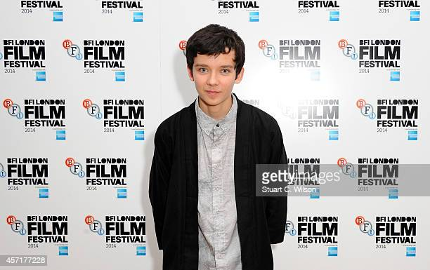 Asa Butterfield attends the red carpet arrivals of XY during the 58th BFI London Film Festival at Odeon West End on October 13 2014 in London England
