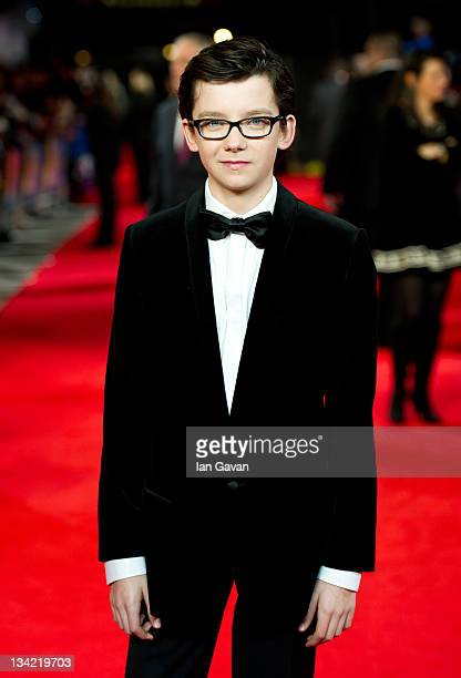 Asa Butterfield attends the royal film performance of Martin Scorsese's 'Hugo in 3D' at the Odeon Leicester Square on November 28 2011 in London...