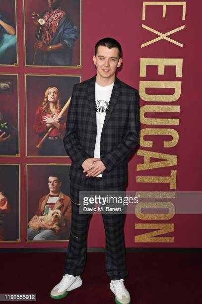 Asa Butterfield attends the World Premiere of Netflix's Sex Education Season 2 at The Genesis Cinema on January 8 2020 in London England