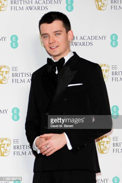 Asa Butterfield poses in the Winners Room at the EE British Academy Film Awards 2020 at Royal Albert Hall on February 2 2020 in London England