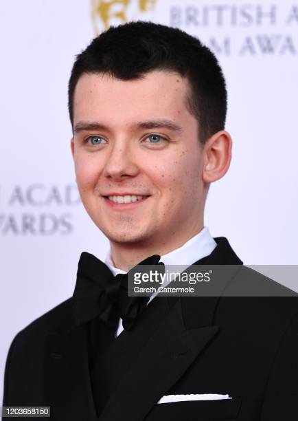 Asa Butterfield poses in the Winners Room during the EE British Academy Film Awards 2020 at Royal Albert Hall on February 02 2020 in London England