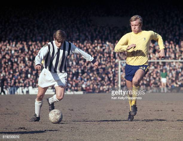 Asa Hartford of West Bromwich Albion is chased by Alan Birchenall of Chelsea during their First Division match at the Hawthorns in West Bromwich 8th...