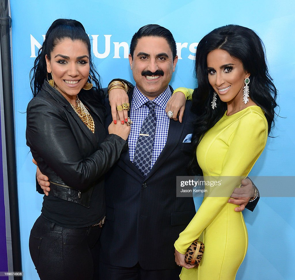 Asa Soltan Rahmati, Reza Farahan and Lilly Ghalichi attend NBCUniversal's '2013 Winter TCA Tour' Day 2 at Langham Hotel on January 7, 2013 in Pasadena, California.