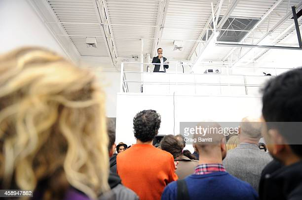 Asad Raza attends the Swiss Institute launch celebration of Hans Ulrich Obrist's new book Ways Of Curating on November 13 2014 in New York City