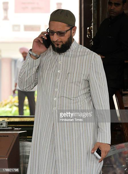 Asaduddin Owaisi President of All India MajliseIttehadul Muslimeen party and Member of Parliament representing Hyderabad constituency in Lok Sabha at...