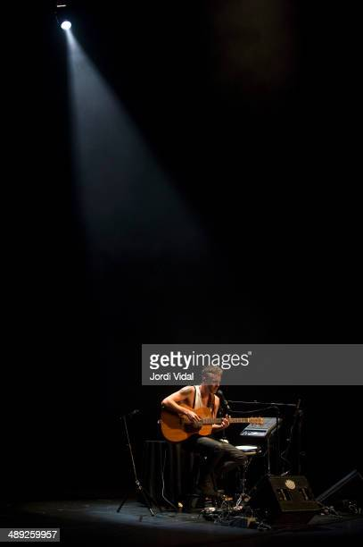Asaf Avidan performs on stage at Teatre Coliseum on May 10 2014 in Barcelona Spain
