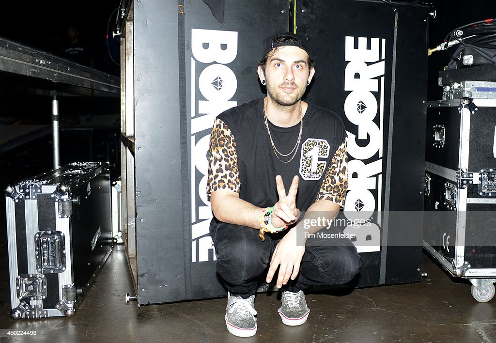 Asaf Borger aka Borgore poses at the Bill Graham Civic Auditorium on November 16, 2013 in Oakland, California.