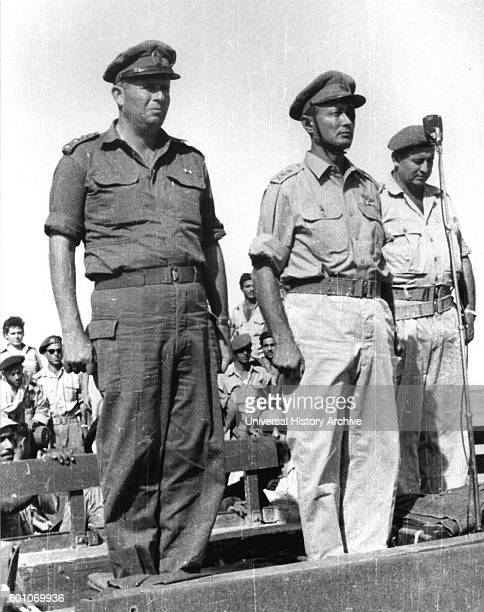 Asaf Simhoni with Chief of Staff Moshe dayan 1956 Simhoni 1922 November 6 1956 was a Major General in the IDF served as head of Northern Command...