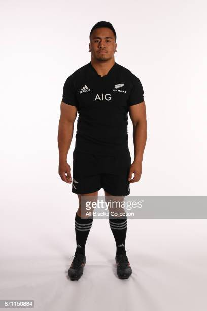 Asafo Aumua of New Zealand poses for a portrait during a New Zealand All Blacks Photocall at the Hotel du Collectionneur on November 6 2017 in Paris...