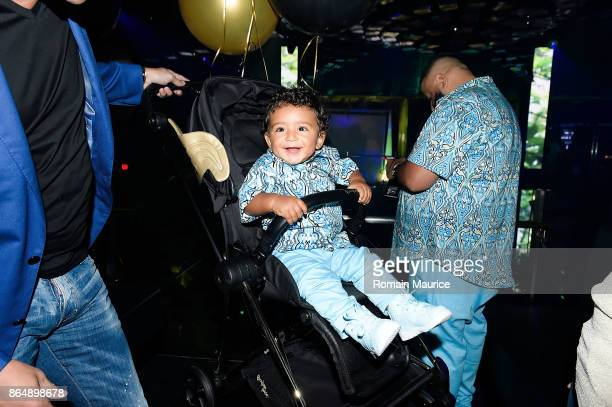 Asahd Khaled attend Tot Living By Haute Living Celebrates Asahd's First Birthday With Cybex on October 21 2017 in Miami Florida