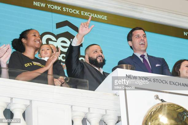 Asahd Khaled DJ Khaled and New York Stock Exchange President Thomas Farley visit The New York Stock Exchange opening bell to promote the Get Schooled...