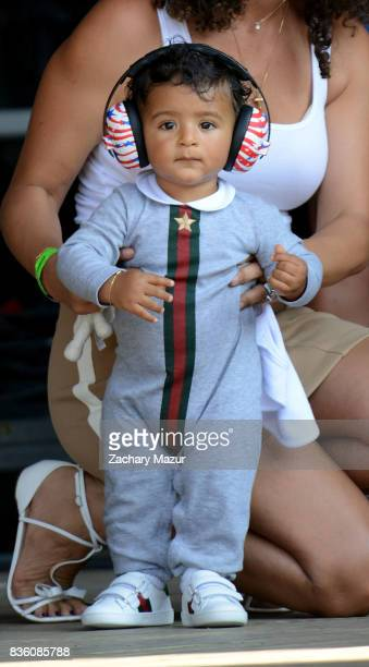 Asahd Tuck Khaled performs at 2017 Billboard HOT 100 Music Festival at Northwell Health at Jones Beach Theater on August 20 2017 in Wantagh New York