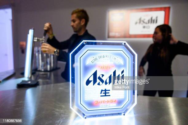Asahi beer is served at Four Roses Bourbon's Broadway Tastes presented by iHeartRadio Broadway hosted by Alex Brightman with special guest Randy...