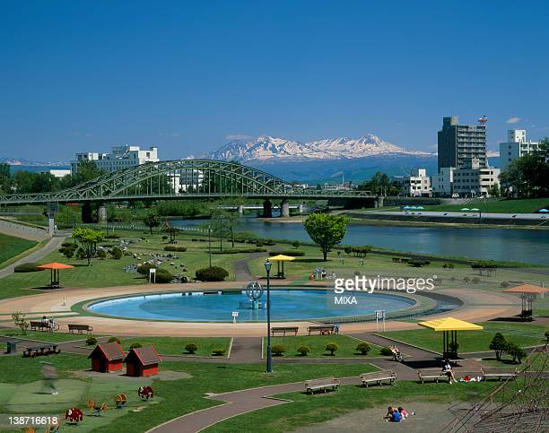 Asahikawa Riverine Park, Asahikawa, Hokkaido, Japan